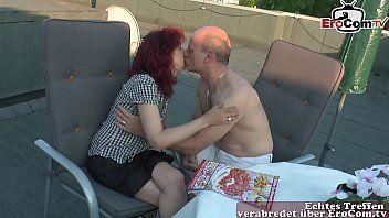 Met liefde neuken op het terras